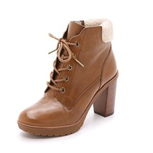 MICHAEL Michael Kors Kim Lace Up Booties Size 10